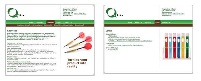 עמודים פנימיים - אתר Qsite