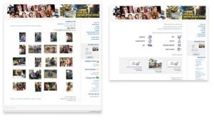 לוח יד 2 מצד ימין וגלרית תמונות מצד שמאל