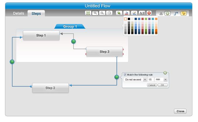 מסך ניהול מערכת ותהליכי זרימה - Vizbee RFID